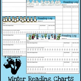 FREE Winter Reading Charts