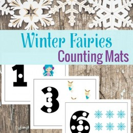 FREE Winter Fairy Counting Mats