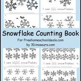 FREE SNOWFLAKE COUNTING BOOK (Instant Download!)