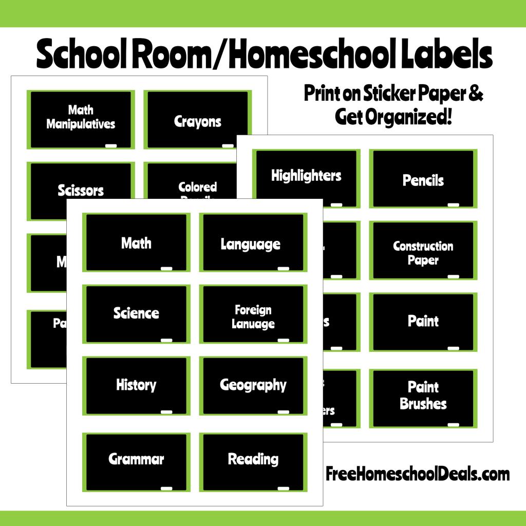 Chalkboard Style School Labels