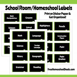 Chalkboard Style Homeschool Room Labels {instant download!}
