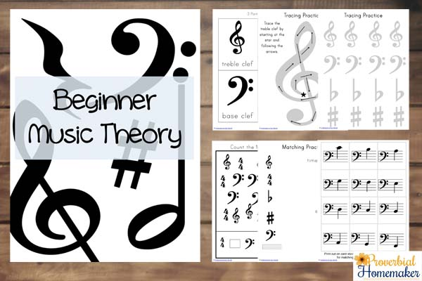 Free Beginner Music Theory Printables