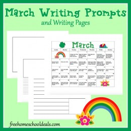 FREE MARCH WRITING PROMPTS (Instant Download)