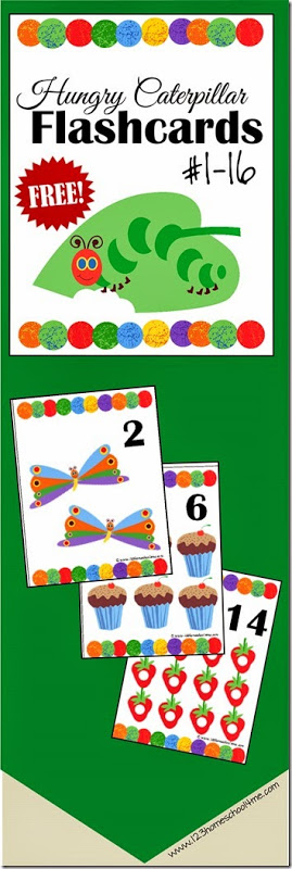FREE Hungry Caterpillar Cards