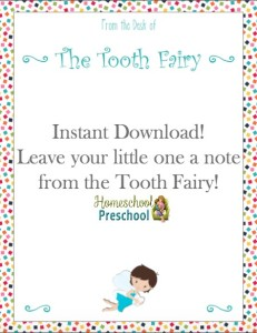 FREE Tooth Fairy Note