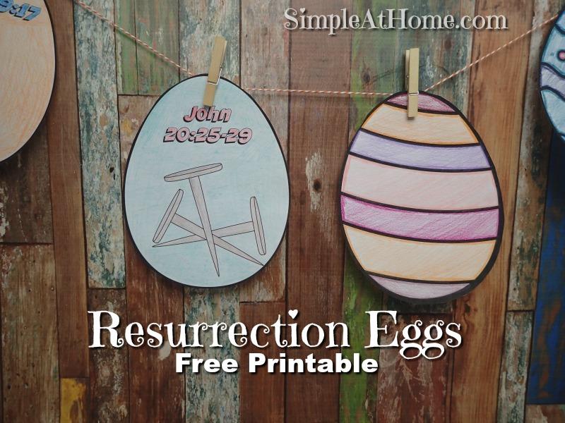 FREE Easter Resurrection Egg Printable Set