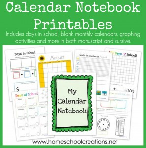 FREE Calendar Notebooking Printables