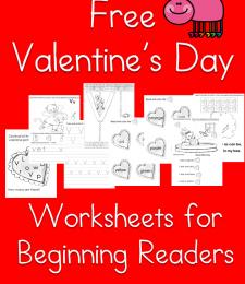FREE Valentine's Beginning Readers Pack
