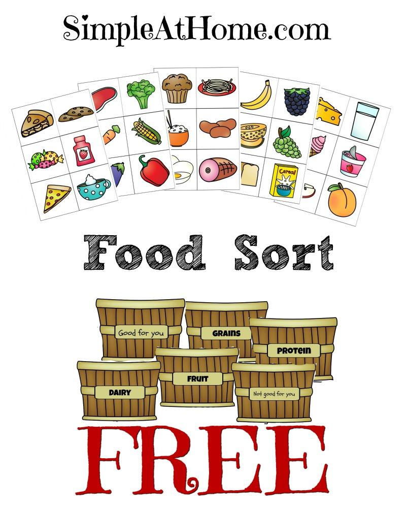 FREE Food Groups Sort Printables