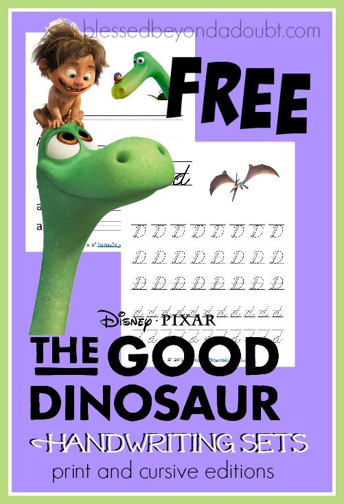 FREE Dinosaur Writing Set