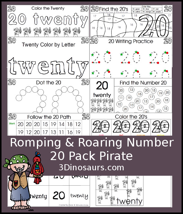 FREE Number 20 Pack
