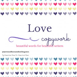 FREE Valentine's Day Copywork Pages
