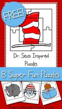 FREE Dr. Seuss Inspired Puzzles