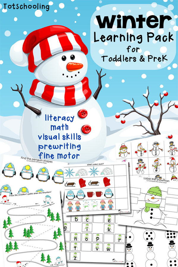 FREE Winter Learning Pack for Toddlers and PreK   Free ...