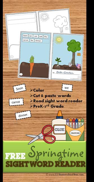 FREE Springtime Sight Word Reader