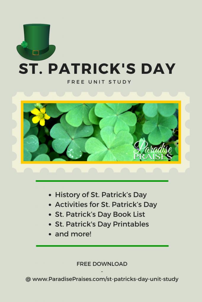 FREE St. Patrick's Day Unit Study
