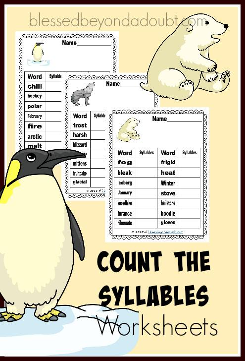 FREE Count the Syllables Pack