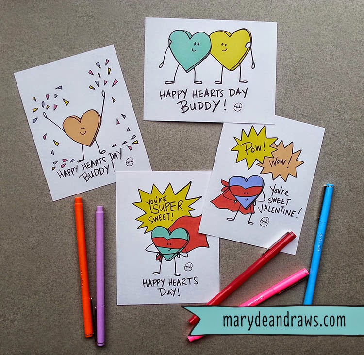 FREE Hand Drawn Valentines