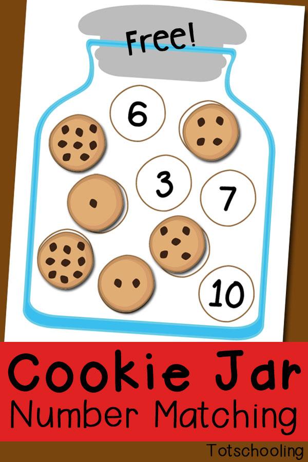 Free Cookie Jar Number Matching Printables And Game