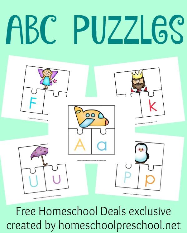 FREE ABC puzzles