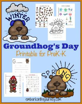 FREE Groundhogs Day PreK-K Pack