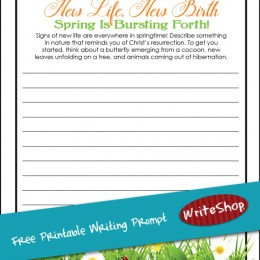 Free New Life, New Birth Spring Writing Prompt