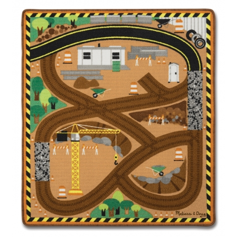Construction Zone Work Site Rug & Vehicle Set Only $20.69! (Reg. $30)