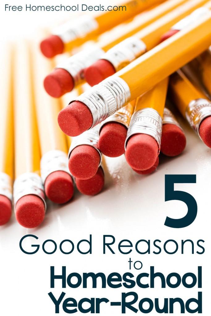 5 Good Reasons to Homeschool Year Round