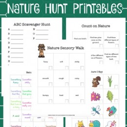 FREE I SPY NATURE STUDY PRINTABLES (Instant Download)