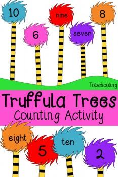 FREE Truffula Trees Counting Pack
