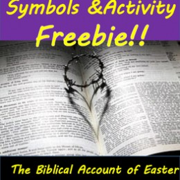 FREE Biblical Easter Story Symbols and Activities Pack