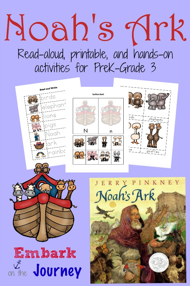 FREE Noah's Ark Pack for PreK -3 | Free Homeschool Deals