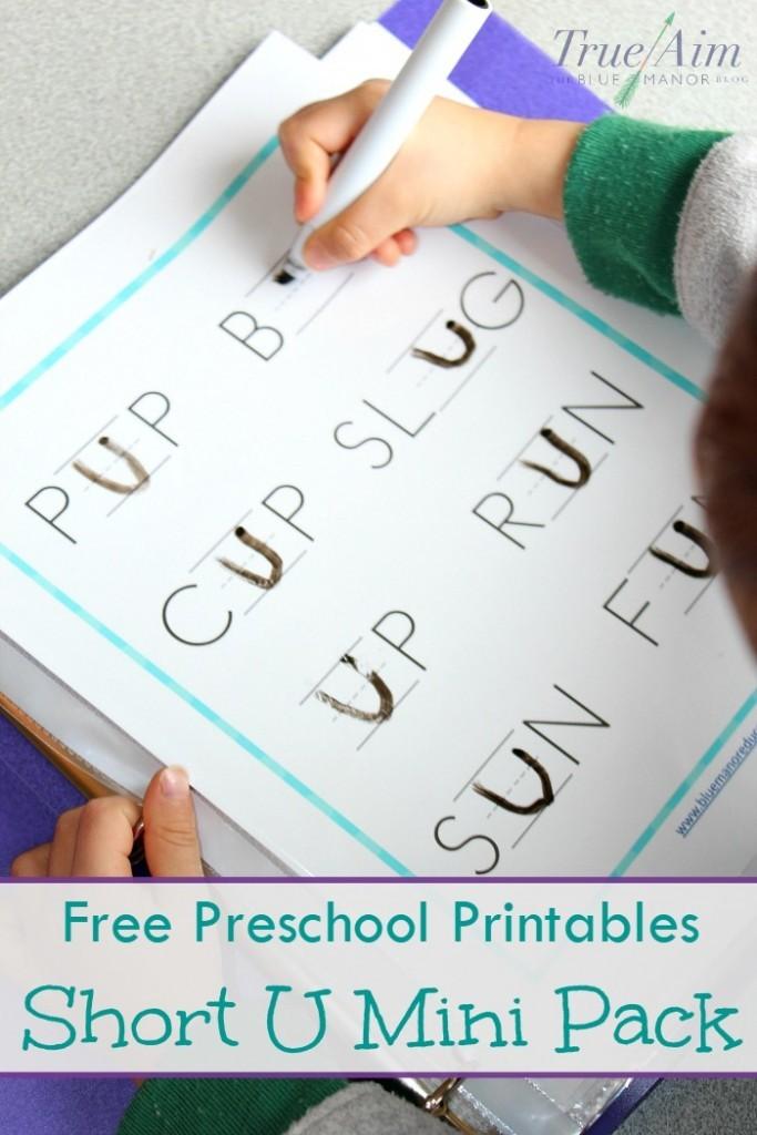 FREE Short U Printables