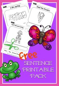 FREE Spring Sentence Printables