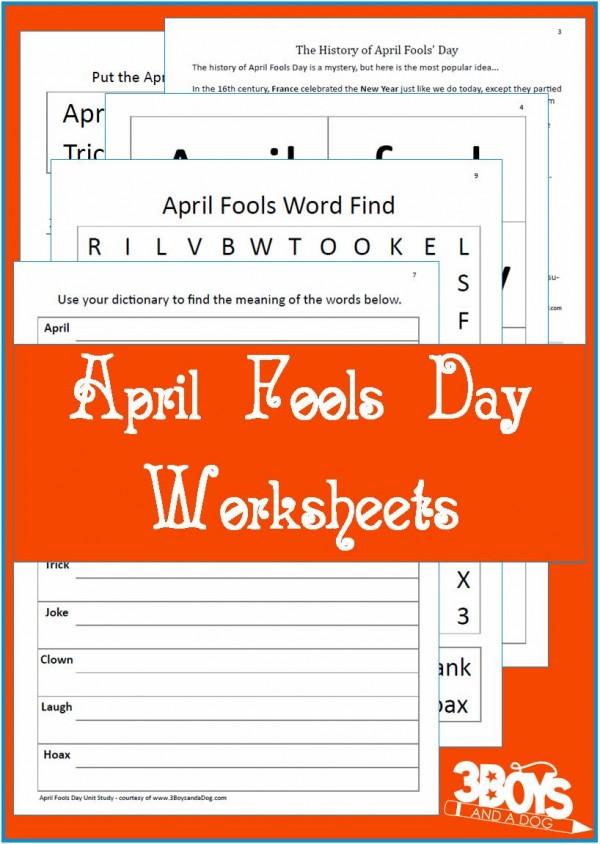 free printable april fools day worksheets