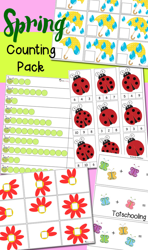 FREE Spring Counting pack
