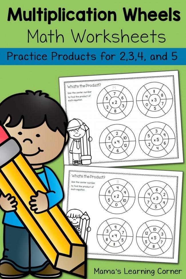 FREE Simple Multiplication Wheel Math Worksheets – Multiplication Wheels Worksheets