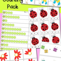 FREE Spring Math Counting Pack