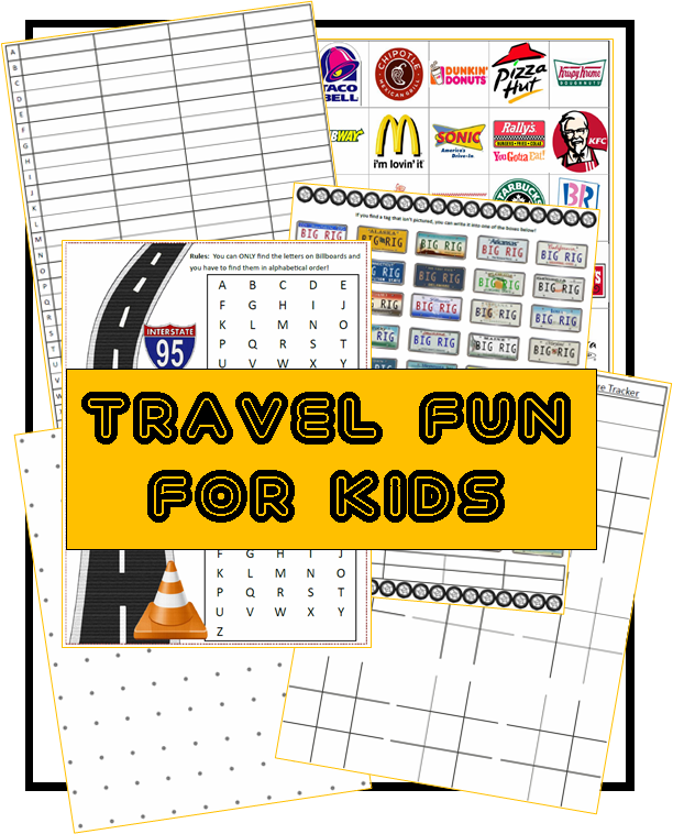 FREE Road Trip Games for Kids