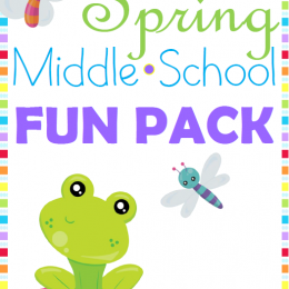 FREE Middle School Spring Pack