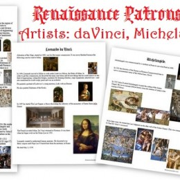FREE Renaissance Artist Worksheets