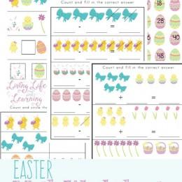 FREE Easter Kindergarten Math Worksheets