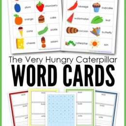 FREE Very Hungry Caterpillar Word Cards