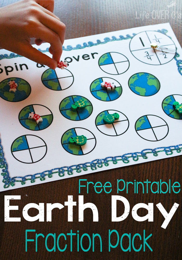 FREE Earth Day Fractions Printables