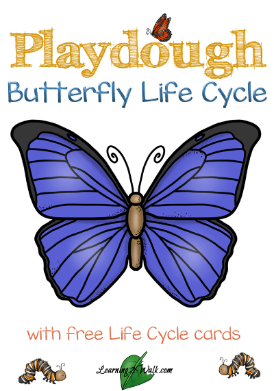 FREE Butterfly Playdough Life Cycle Mats and Cards