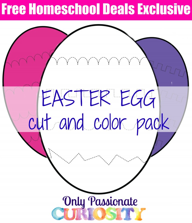 FREE Easter Egg Cut and Color Pack