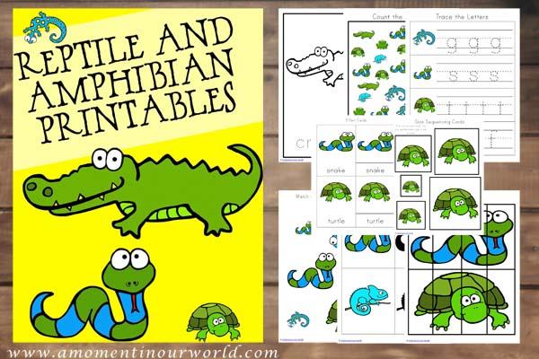 FREE Reptiles Printables