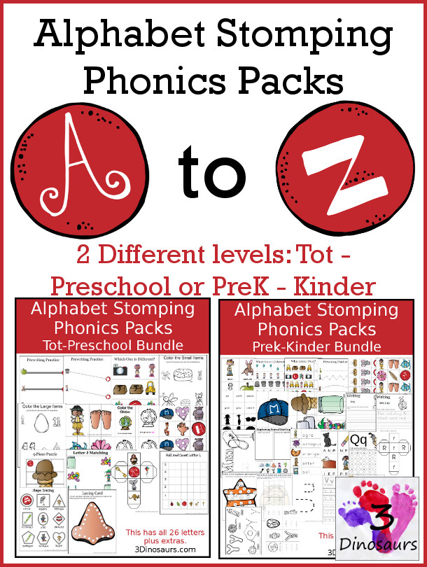 Alphabet Stomping Phonics Packs Only $39 - Limited Time!