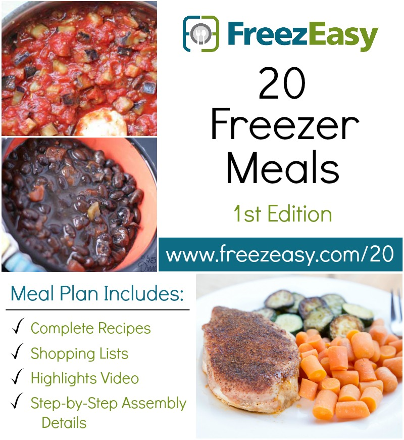 20 Freezer Meal Plan Only $7!