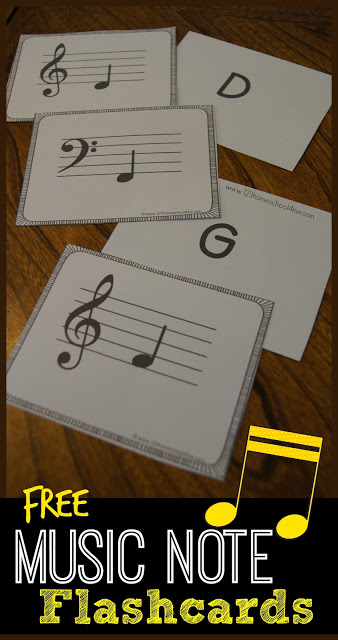 FREE Music Note Cards